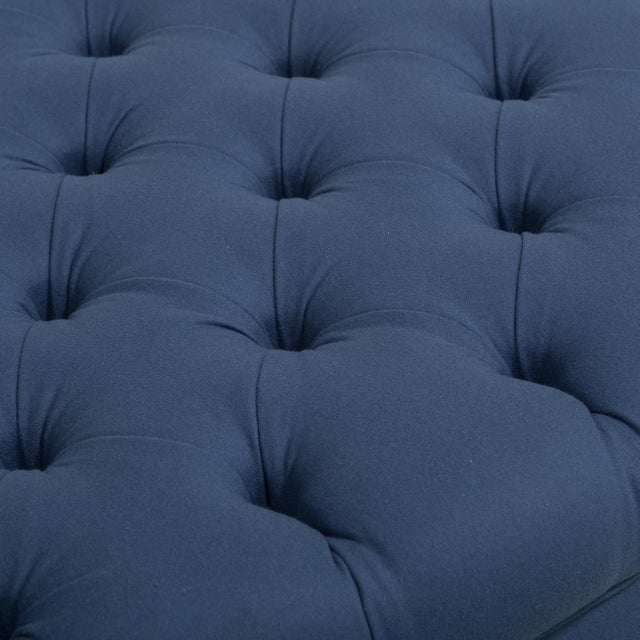 The Deep Buttoned Ottoman by Talisman Bespoke For Sale - Image 6 of 6