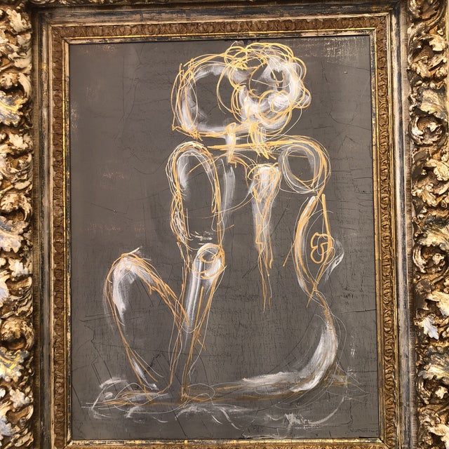 Gray Gray Venetian Nude Painting For Sale - Image 8 of 13