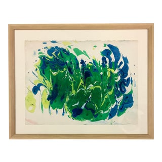 1980s Original Myra Kyle Abstract Psychedelic Watercolor For Sale