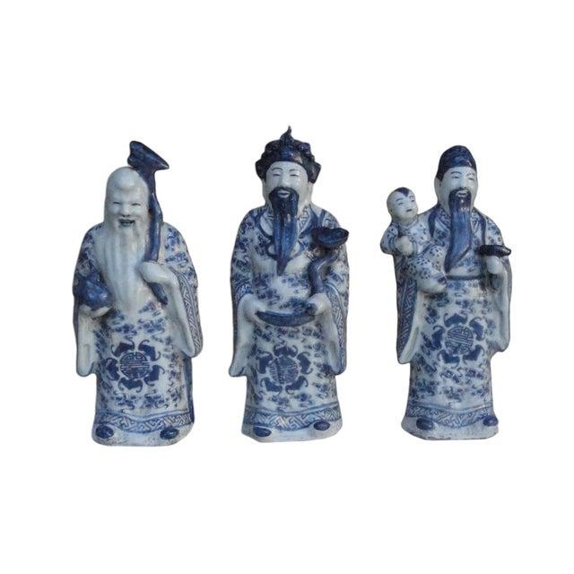 Chinese Handmade Blue & White Porcelain - Set of 3 - Image 2 of 7