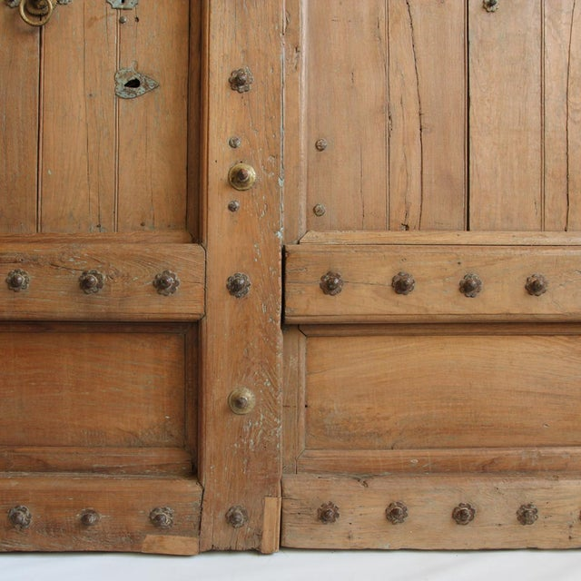 Gothic Old Teak Door From India For Sale - Image 3 of 3