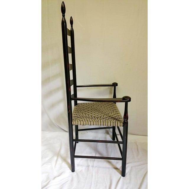 Black Reproduction Shaker Elder's Chair For Sale - Image 8 of 11