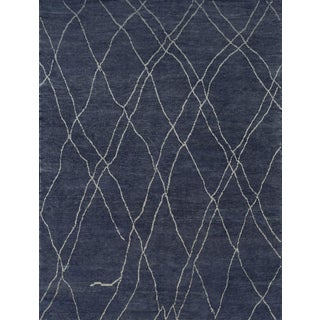 Handwoven Moroccan Inspired Wool Rug For Sale