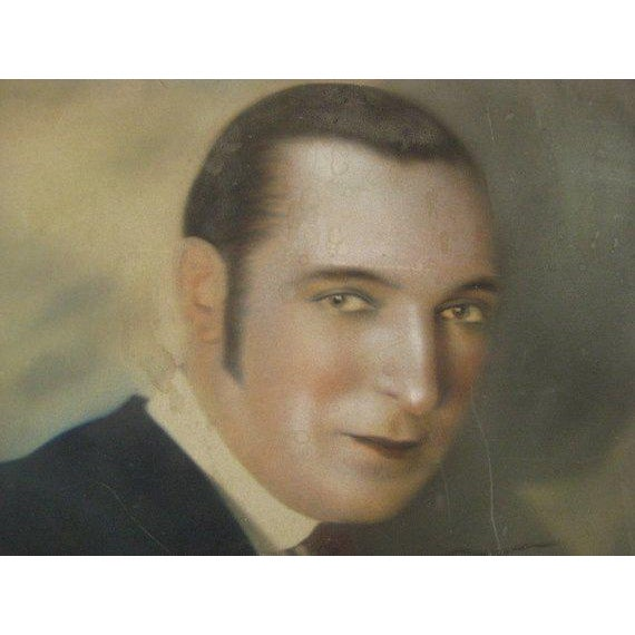 1920s 1920s Hand Colored Portrait Photo of Harry Richman, by Strand NYC For Sale - Image 5 of 7