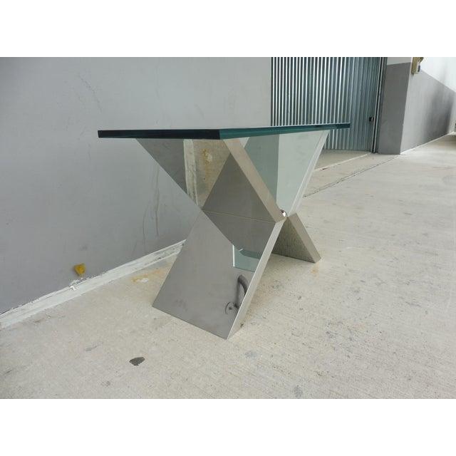 J. Robert Scott Contemporary J. Robert Scott High End Custom Made Exxus Table For Sale - Image 4 of 10