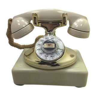 Gold Plated and Ivory Western Electric Phone For Sale