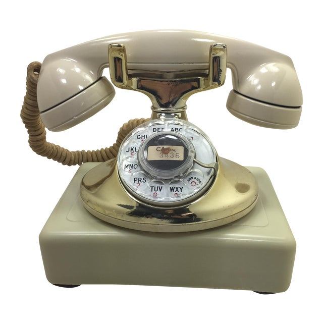 Gold Plated and Ivory Western Electric Phone - Image 1 of 11