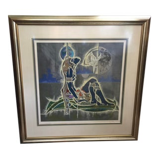 Lu Hong Lithograph Blue Love Artists Proof For Sale