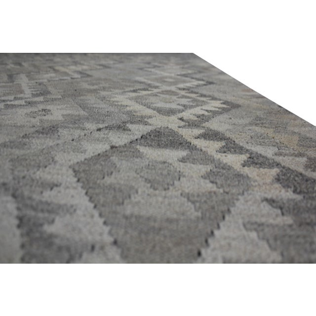 """Hand-Knotted Modern Kilim by Aara Rugs - 9'7"""" x 7'1"""" For Sale In Los Angeles - Image 6 of 6"""