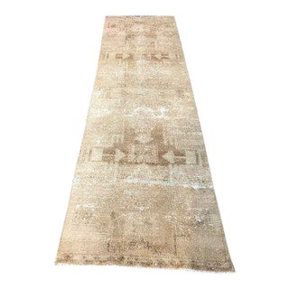 1960s Vintage Distressed Turkish Runner Rug - 2′6″ × 9′10″ For Sale