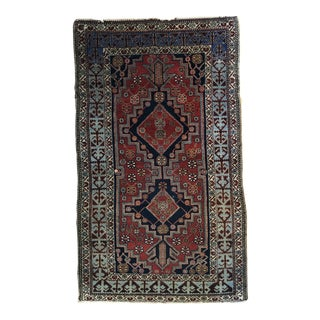 Antique Persian Luri Rug, C. 1920 - 3′2″ × 5′7″ For Sale