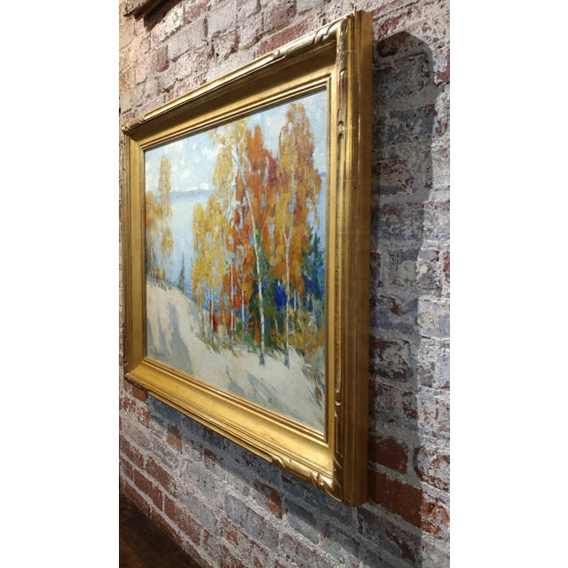 Yellow Isabel Hunter - Beautiful Carmel Landscape-California Impressionist-Oil painting For Sale - Image 8 of 10