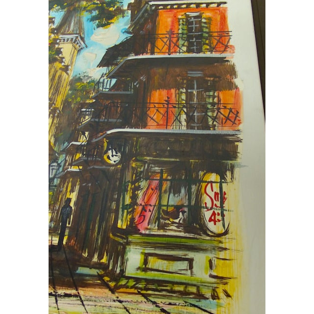 McCaffery Signed Cityscape New Orleans Painting - Image 5 of 8