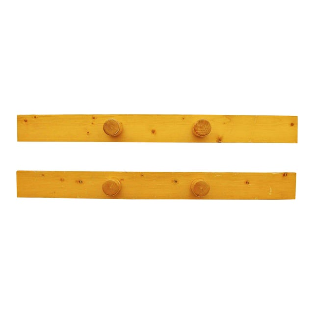 Wood 1960s Scandinavian Charlotte Perriand Coat Racks - a Pair For Sale - Image 7 of 7