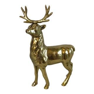 Vintage Brass Deer Bank For Sale