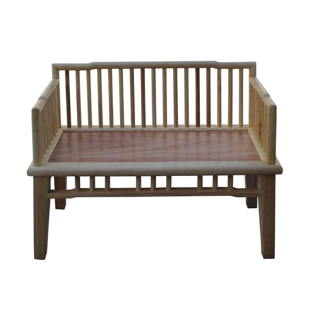 Zen Unfinished Wood Double Seat Bench - Image 2 of 6