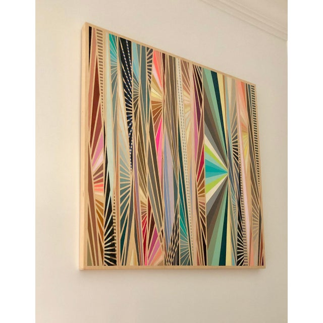 This extraordinary piece of original art plays with the tensions between Minimalist and Maximalist aesthetic. The color...