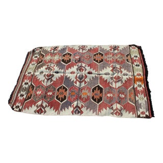 Vintage Navajo Themed Accent Rug- 3′2″ × 5′ For Sale