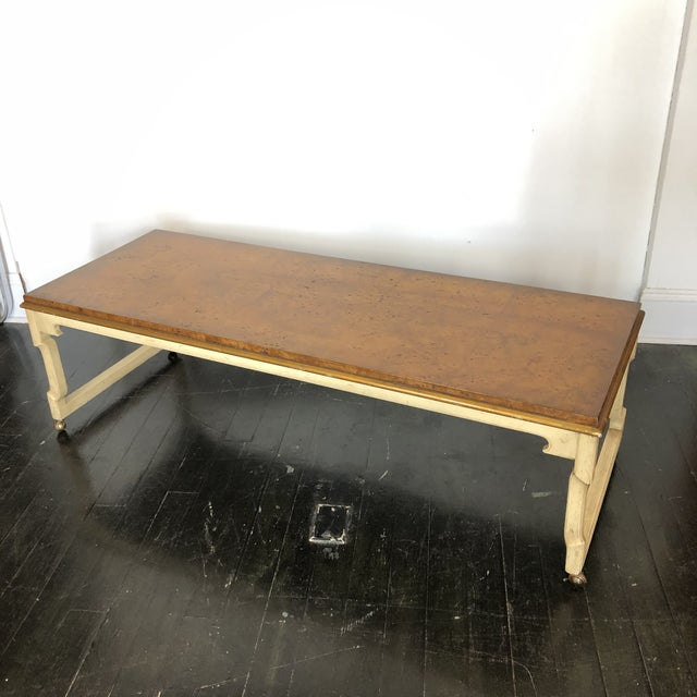 Tomlinson Tomelinson Burled Wood Coffee Table For Sale - Image 4 of 11