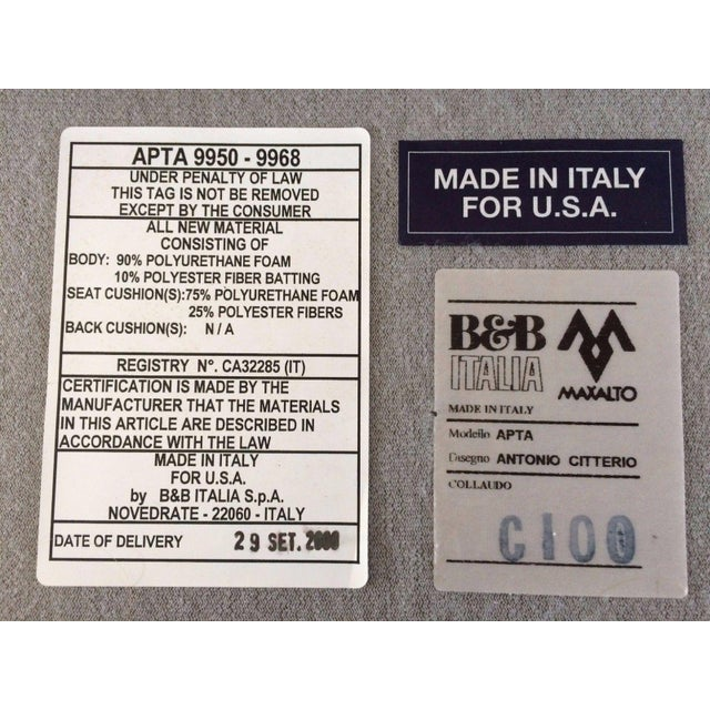 B & B Italia Sectional & Ottoman - Image 7 of 9