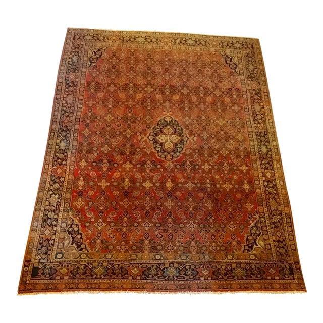 Vintage Persian Sarouk Rug- size 9x10 ft For Sale