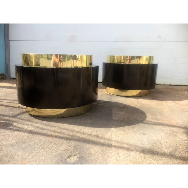Gold & Black Tables - A Pair For Sale - Image 5 of 9