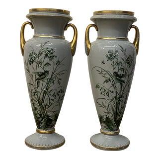 Pair of Vintage Porcelain Mantel Vase For Sale