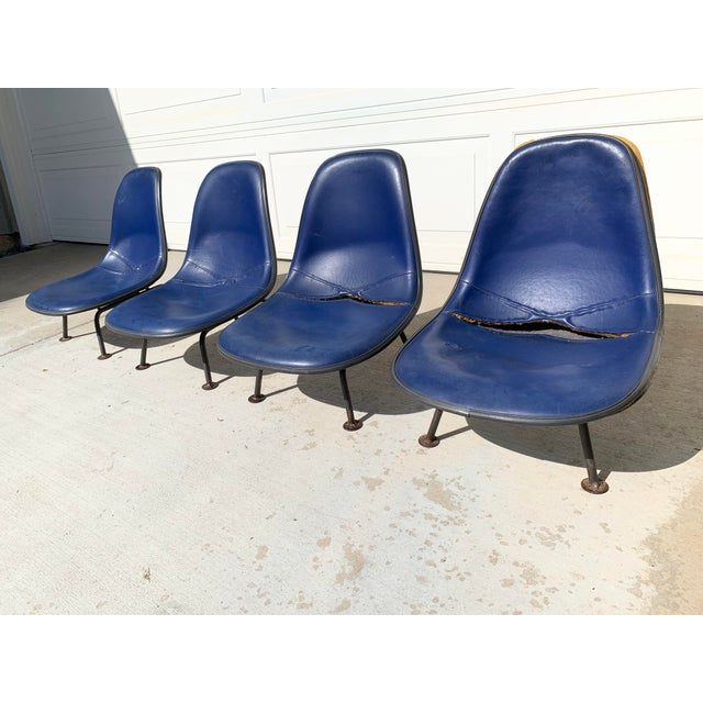 Mid-Century Modern Herman Miller Eames Reconfigured One of a Kind Shell Chairs For Sale - Image 3 of 13