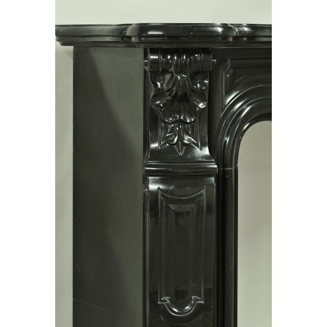 Black Marble Louis XV Fireplace Mantel, 19th Century For Sale - Image 4 of 8