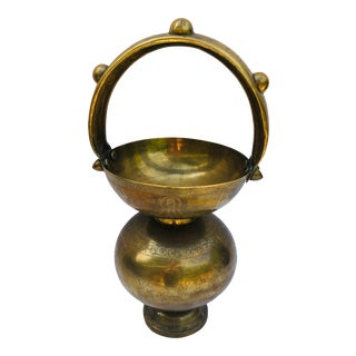 Vintage Brass Tibetan Holy Water Pot For Sale