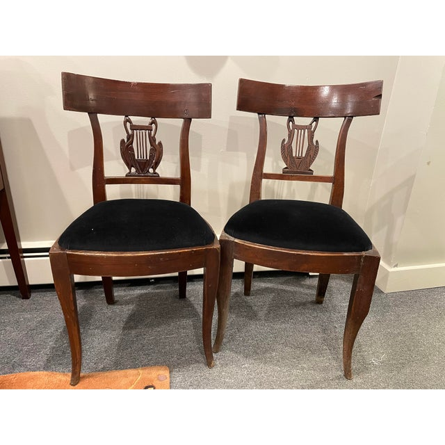 Brown Early 19th Century Antique Side Chairs - a Pair For Sale - Image 8 of 8