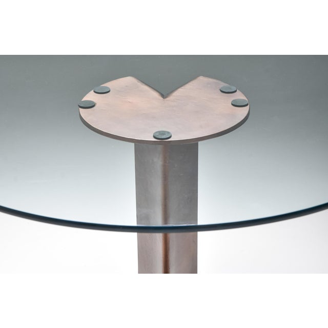 1970s Afra & Tobia Scarpa Bronze Table Tl59 For Sale - Image 10 of 13