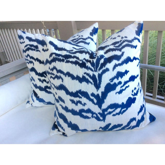 Absolutely-totally-and altogether stunningly gorgeous!!! This rich velvet features royal blue tiger stripes on an off...