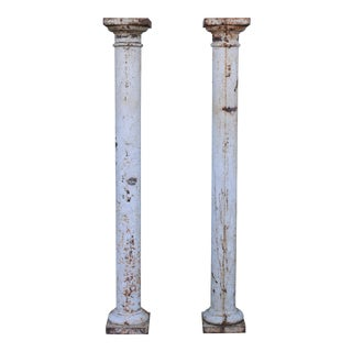Cast Iron Antique Tall PColumns - a Pair For Sale