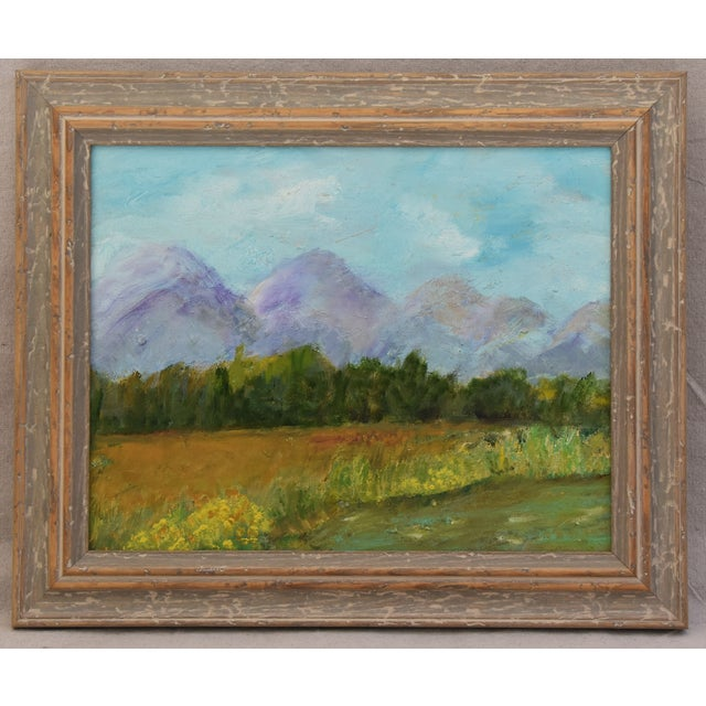 Framed Mountain Landscape Oil Painting - Image 2 of 9