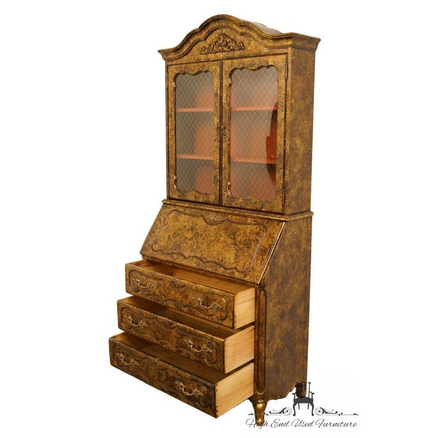 Glass Late 20th Century Vintage Jasper Cabinet Secretary Desk For Sale - Image 7 of 13