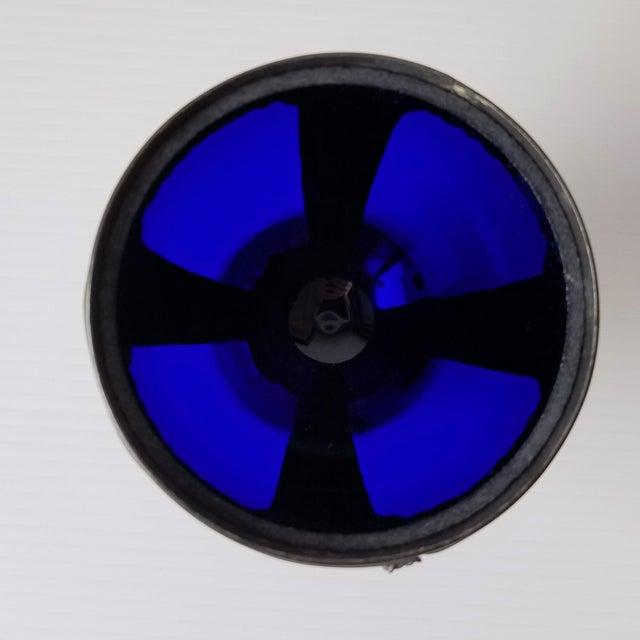 1920s Progress Novelty Casting Works Cobalt Blue Candy Dish For Sale - Image 4 of 13