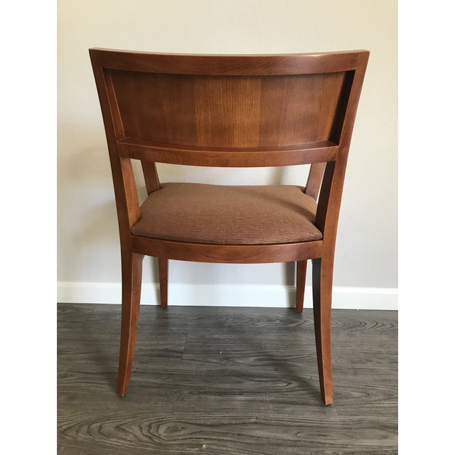 Knoll Knoll Crinion Cherrywood Ribbon-Band Arm Side Chairs - Set of 4 For Sale - Image 4 of 11
