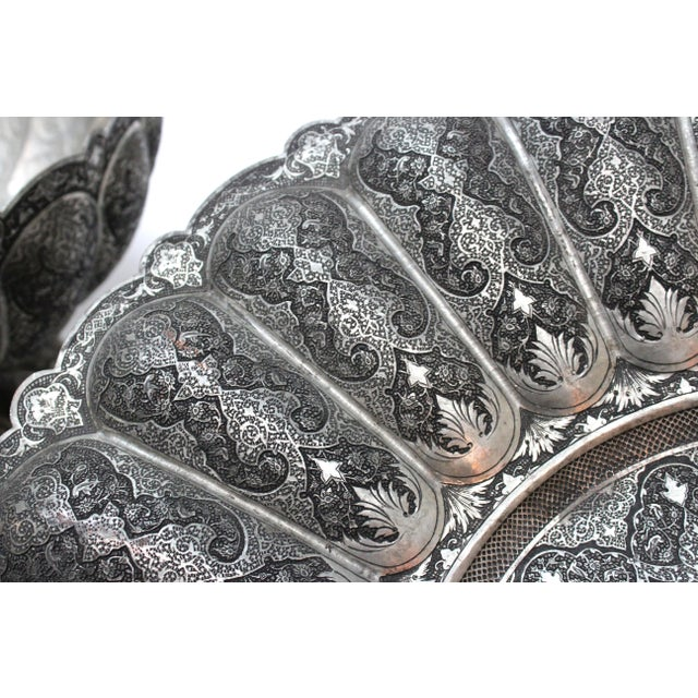 Persian Engraved Ghalam Zani Punch Bowl For Sale - Image 9 of 9