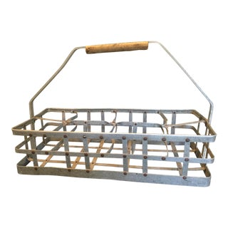 1950s French Country Wine Bottle Carrier