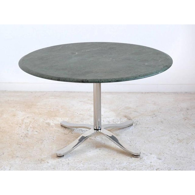 Silver Nicos Zographos Table with Marble Top For Sale - Image 8 of 8