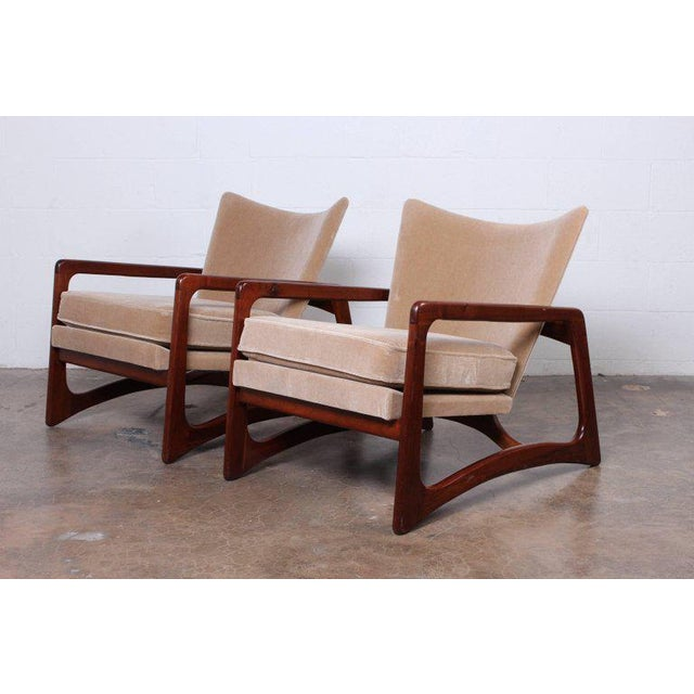 Tan Pair of Lounge Chairs by Adrian Pearsall For Sale - Image 8 of 11