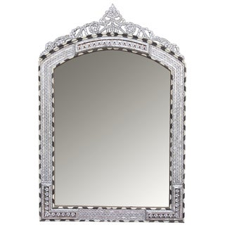 Contemporary Syrian Mother of Pearl Inlay Mirror For Sale