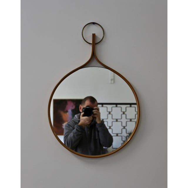 Bentwood 1955 Vintage Hans-Agne Jakobsson Wall Mirror For Sale - Image 7 of 7