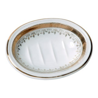 1940s Porcelain Soap Dish For Sale