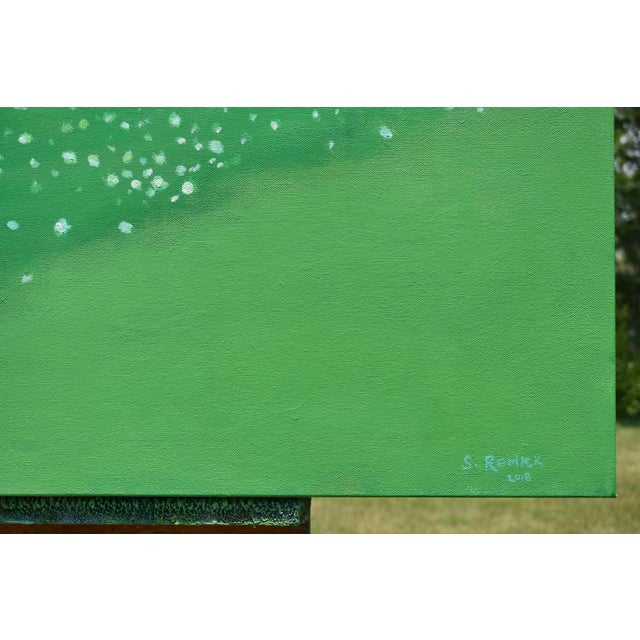 "2010s ""Patch of Clover"", Contemporary Painting by Stephen Remick For Sale - Image 5 of 11"