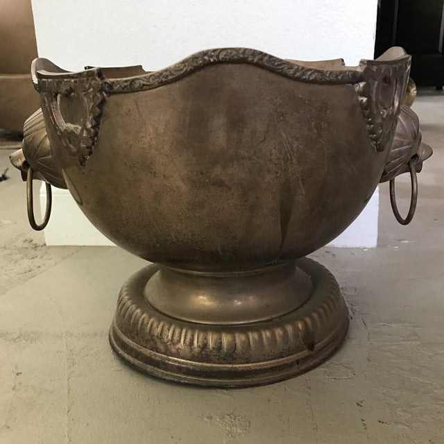 Vintage Silverplate Lion Handle Bowl - Image 4 of 5