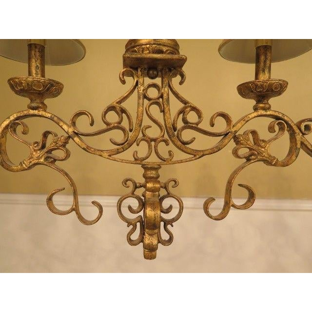 Item: F28940: CHELSEA HOUSE Venetian Decorated Iron 6 Light Island Chandelier Age: Approx: 20 Years Old Details: High...