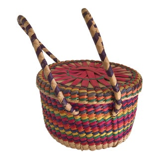 Boho Festive Basket For Sale