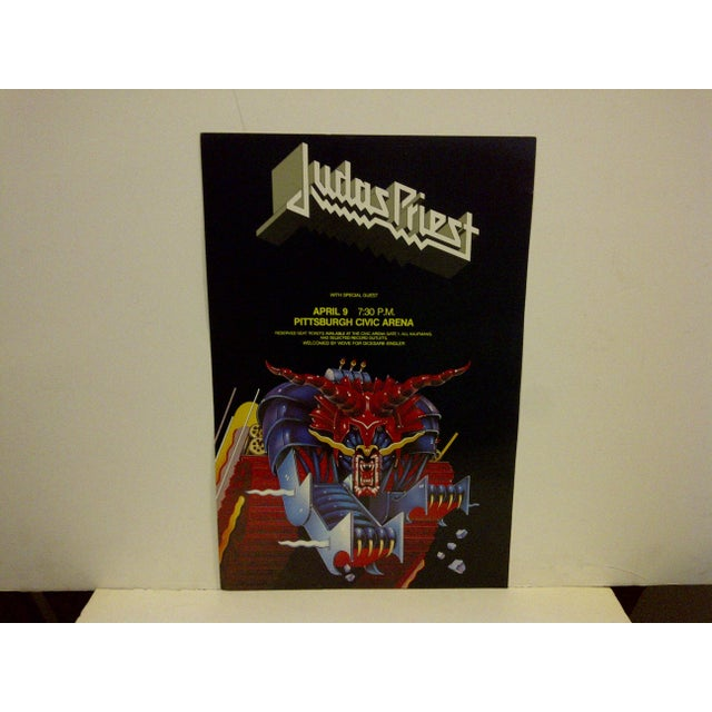 "A vintage concert poster ""Judas Priest"" -- April 9, 1984 -- Pittsburgh Civic Arena. The poster is in very good condition."